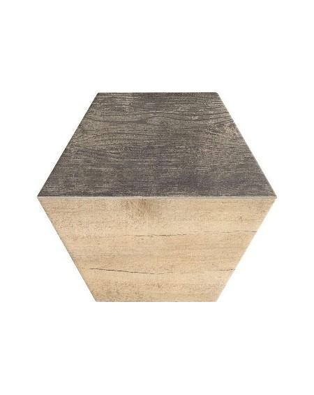 dlažba obklad kazetový imitující dřevo Trapez Wood Oak parket 28,5x33 cm šestihran
