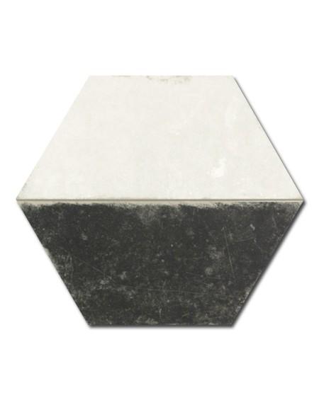 dlažba obklad vintage patina černobílá terrades hex 28 hexagon Trapez Vintage B&W 28x33 cm šestihran