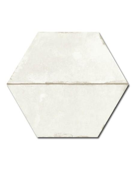 dlažba obklad vintage patina hex 28 hexagon Trapez Vintage White 28x33 cm šestihran