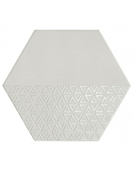 dlažba obklad hexagon Opal Deco Grey - Gris 28,5x33 cm výrobce Realonda