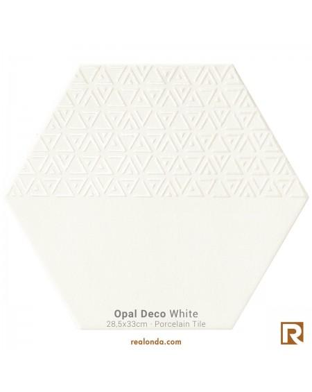 dlažba obklad hexagon Opal Deco Bianco White 28,5x33 cm výrobce Realonda