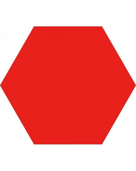 dlažba obklad červený hexagon Opal Rojo 28,5x33 cm výrobce Realonda Šestihran