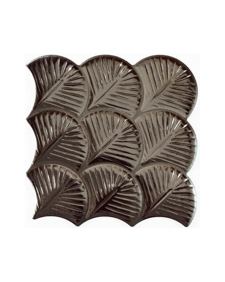 kovová dlažba obklad ve tvaru rybí šupiny Scale Shell Antracite 30,7x30,7 cm