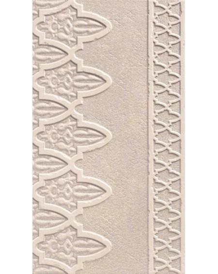 obklad hnědý vintage klasic Dubai Gris Decor Cenefa 31x56 cm imitující kámen matný výrobce Realonda