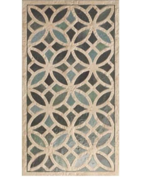 zelený obklad se vzorem Aqua Deco Dakhla Terracotta 31x56 cm matný
