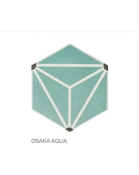 obklad prostorový hexagon barva mint s k hex28 Osaka Aqua výrobce Reaonda šestihran