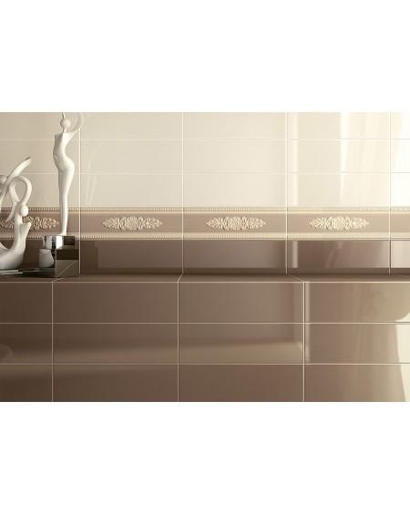 luxusní koupelna vintage klasic barva Tortora 10x30cm lesk výrobce Vallelunga