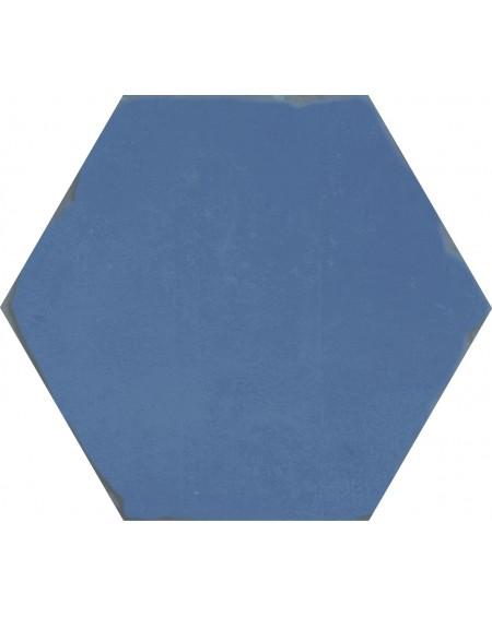 Dlažba obklad modrý hexagon APE Carmen Nomade Blue 13,9x16 cm šestihran mat