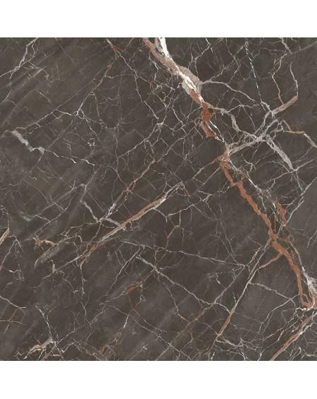 dlažba obklad lesklý imitující hnědý mramor brown Ombra di Caravaggio Glossy 120x120 cm ultra slim 6,5mm