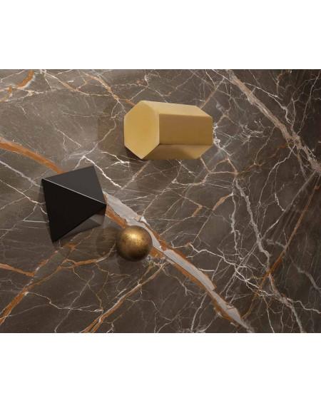 dlažba obklad matný imitující hnědý mramor velkoformátový Ombra di Caravaggio Mate 120x120 cm ultra slim 6,5mm