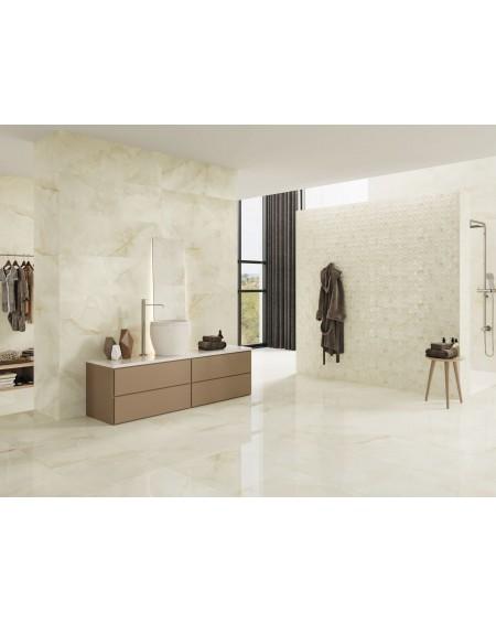 koupelny levné imitující mramor béžový Quios Cream 60x60cm Tloušťka 7 mm