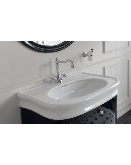 keramické umyvadlo na stěnu Lante LA 11 WHITE 90 cm bílé retro vintage