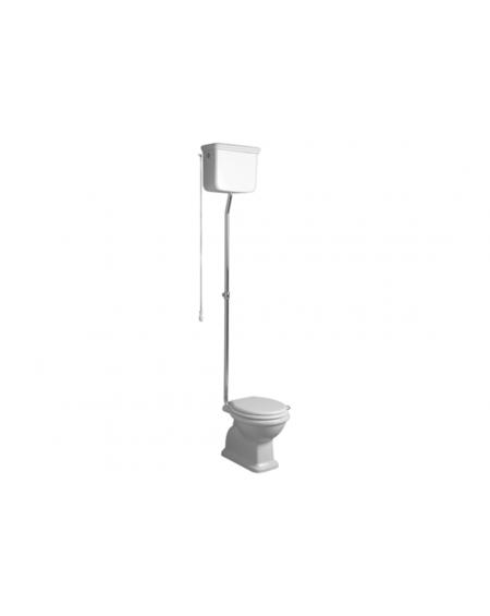 wc stojící toaleta nádržkou u stropu s řetízkem Lante LA STR R White 58 cm bílý retro vintage
