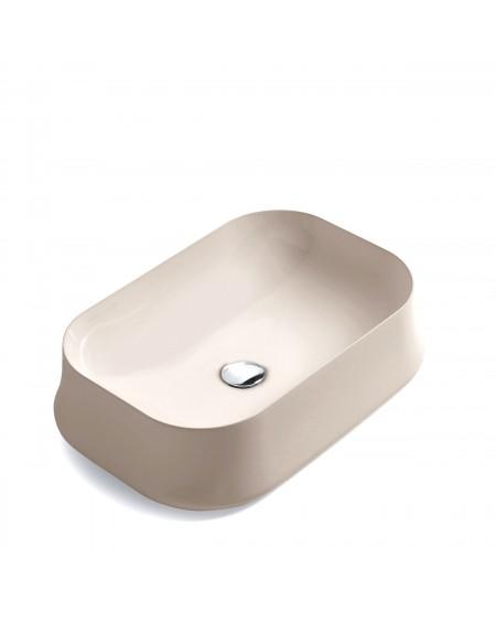 barevné keramické umyvadlo na desku W Sharp SH08 CHAP 60 cm obdélníkové matné