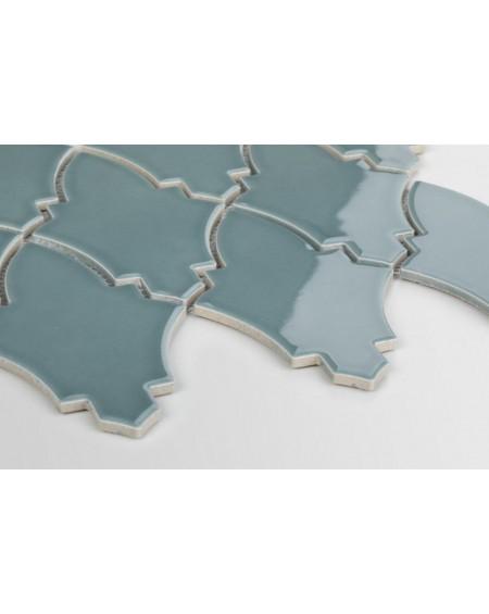 obklad mozaiko ve tvaru štítu světlá petrolio Shield Teal Blue