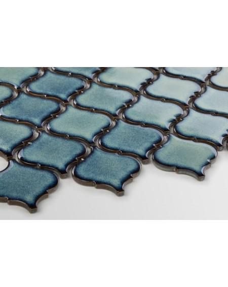 arabeska mozaika jaderské moře tmavá zelená 6x6,6 cm
