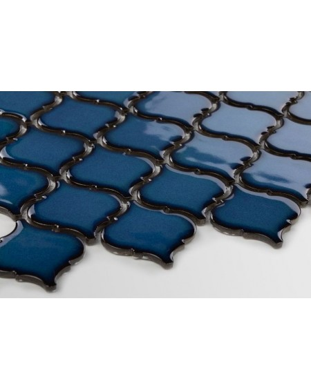 arabeska mozaika jaderské moře tmavá modrá 6x6,6 cm