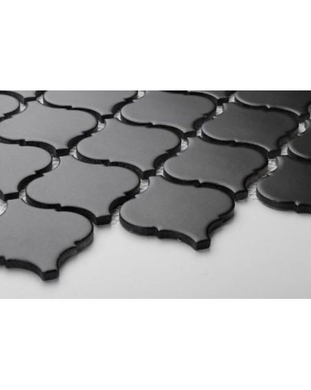 arabeska mozaika černá matná 6x6,6 cm