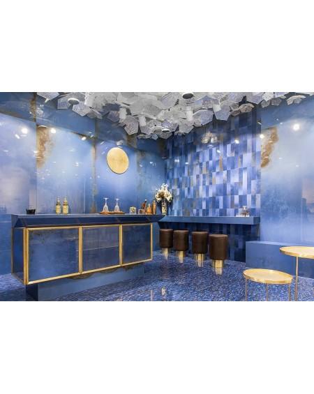 velkoformátová exkluzivní safírová modrá dlažba obklad Narciso Zaffiro 120x278 cm ultra slim 6,5 mm výrobce Viva Italy