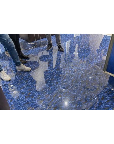 exkluzivní safírová modrá dlažba Frammenti Zaffiro 59x118,2 cm lappato lucido výrobce Viva Italy
