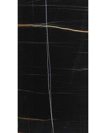 dlažba imitující černý mramor Sahara Noir 60 x120 cm Lappato