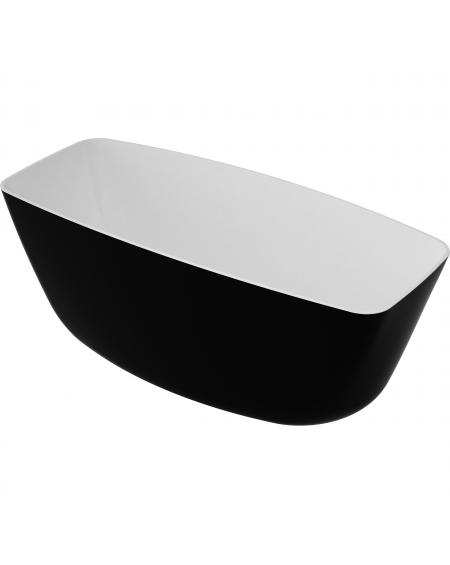 Vana volně stojící z litého mramoru Ferrara 156 Black & White