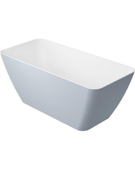 vana volně stojící z litého mramoru Parma 159 cm šedá