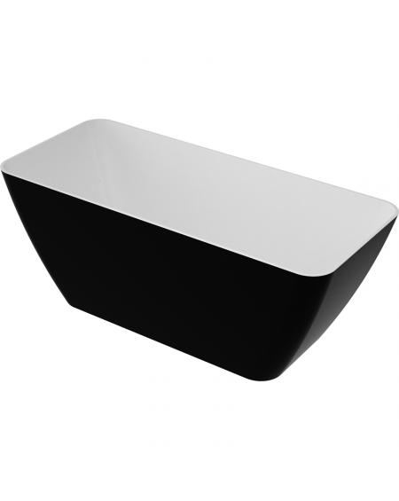 vana volně stojící z litého mramoru Parma 159 cm černobílá