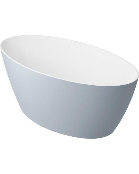 vana volně stojící z litého mramoru Siena 161 cm šedá