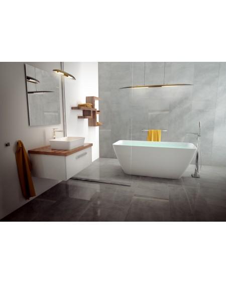 vana volně stojící z litého mramoru Parma 159 cm bílá