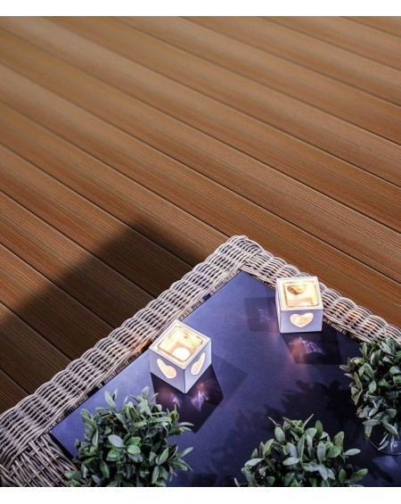 Dřevoplastová terasová prkna se směsí bambusu a kompositu imitující dřevo WPC - Bambus Ipe 240 x15 x 25 cm