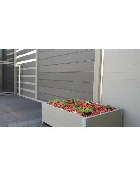 Dřevoplastová terasová prkna se směsí bambusu a kompositu WPC - Bambus White map 240 x15 x 25 cm