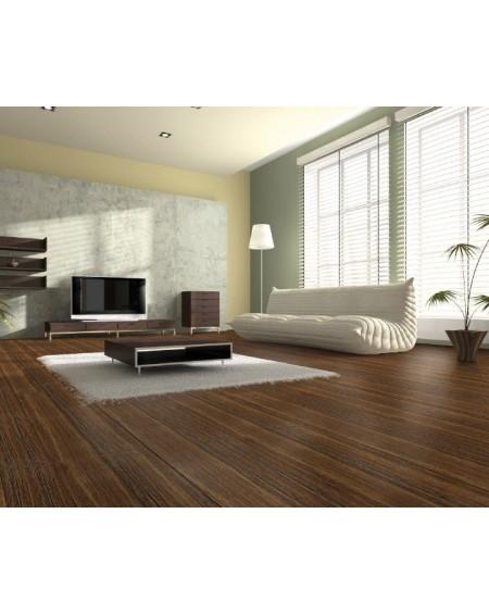 masivní podlahová prkna vyrobená z bambusu Wild Wood Tabaco 185x125x14 cm systém pokládky Uniclik