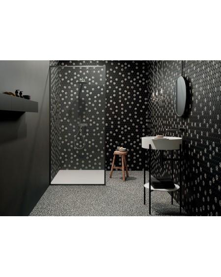dlažba obklad velkoformátový imitující matný granit SM Shards large black 120x120 cm