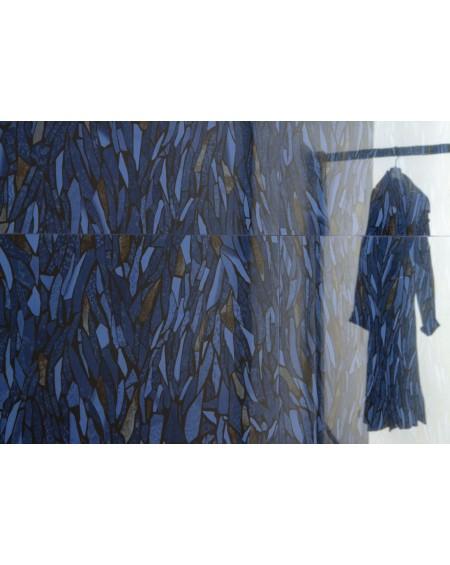 exkluzivní safírová modrá dlažba Frammenti Zaffiro 59x118,2 cm lappato mate výrobce Viva Italy