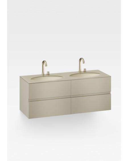 závěsná umyvadlová skříňka Armani Roca Gold 155 cm Island R3100