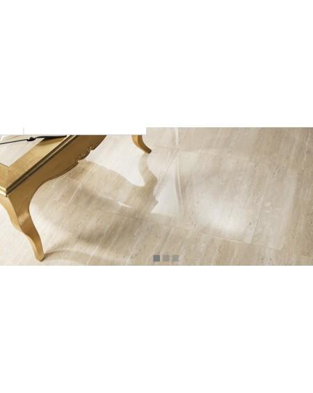 přírodně probarvená dlažba travertin nature shiny 60x60 cm lesklá