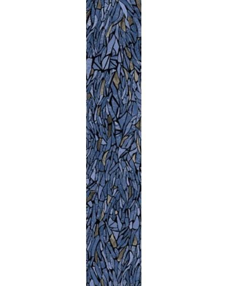 safírová modrá dlažba obklad extra vysoký lesk Frammenti Zaffiro 20x120 cm lappato lucido výrobce Viva Italy