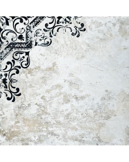 Dlažba se vzorem Mindanao Decor Term 02 60x60 cm výrobce Absolut černobílá matná 1/m2