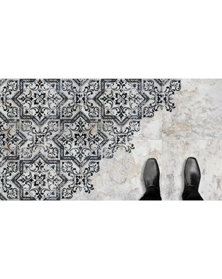 Dlažba se vzorem Mindanao Decor 60x60 cm výrobce Absolut černobílá matná 1/m2