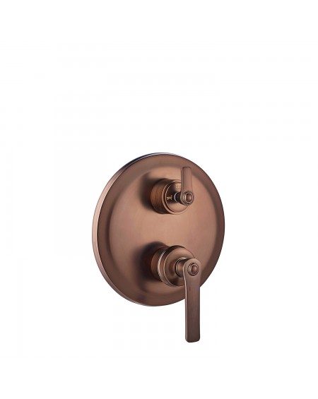 měděná podomítková sprchová baterie 3 výstupy Retro Armance R 17cm