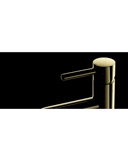 zlatá umyvadlová baterie Gold Y 17cm