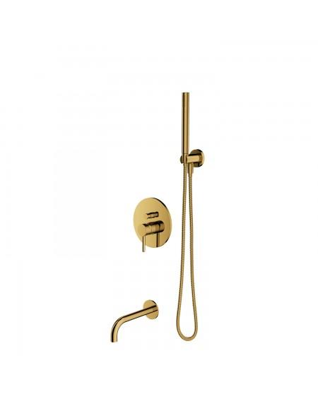 zlatý sprchový systém L Gold Y