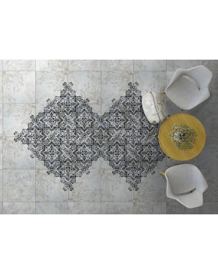 Dlažba obklad se vzorem Art retro patchwork Mindanao Term.02 - 60x60 cm výrobce Absolut černobílá matná 1/m2