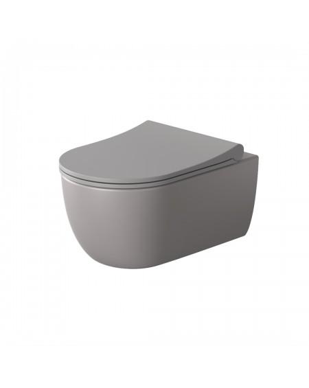 Závěsná barevná toaleta v barvě pure coralo / lososová