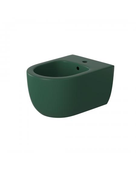 Závěsný barevný bidet v barvě matné zelené