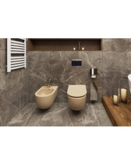 Závěsná barevná toaleta pure v barva jasmínová pastelová matná