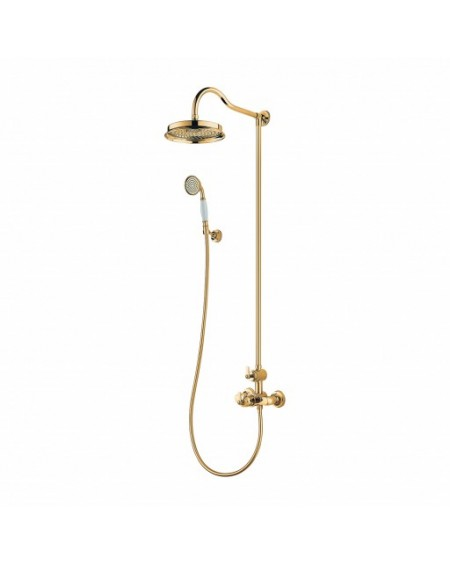 Zlatý sprchový set termostatický Retro Armance 5244/6GL Gold