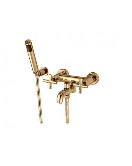 Vanová baterie zlatá se sprchou Modern gold výrobce Omnires