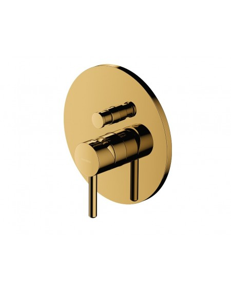 Zlatá sprchová podomítková baterie Y Modern Gold plus těleso